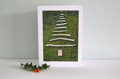 Driftwood Tree Blank Christmas Greetings Card with Envelope by SeaBreezeShop on Etsy