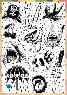 Flash Art Tattoos, Tattoo Flash Sheet, Body Art Tattoos, Sleeve Tattoos, Ankle Tattoos, Arrow Tattoos, Word Tattoos, Tattos, Tattoo Design Drawings