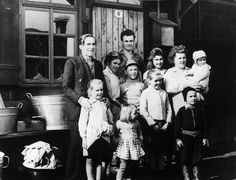 Hungarian refugees in Austria: Large refuge family: The young ones get married, babies are born, life takes on its normal rhythm.    As of 28 October 1957, 10,500 adult Hungarian refugees were accommodated in camps that were mostly run by the Austrian Government while 8,500 adult refugees had already settled down in private accommodation. © UNHCR/Szabo/1958