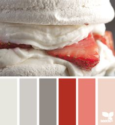 Versterk grijze tonen met een sterke contrastkleur. Rood is een frisse aanvulling van grijzen in het interieur. #kleuradvies #interieurvormgeving #interieuradvies
