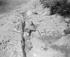 German trench taken by the 2nd Battalion, King's Own Scottish Borderers at Arrewage, 4 July 1918.