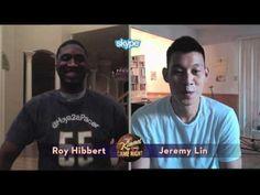 Roy Hibbert and Jeremy Lin in the JKL Skype Scavenger Hunt
