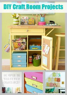 Easy Organization {and cheap}...7 Simple DIY Projects for Your Craft Room