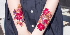 How to Make Temporary Dried Flower Tattoos - Emily Geraghty Blogger