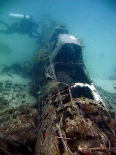 WW2 Japanese Plane Wreck  Kavieng, PNG