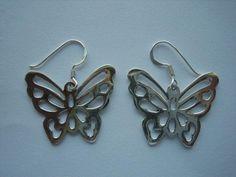 e8096cefd121 Pendientes de plata en forma mariposa. Pope Complementos ...