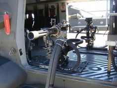 """TheM134 Minigunis a 7.62mm, six-barreledmachine gunwith a high rate of fire (2,000 to 6,000rounds per minute), employingGatling-style rotating barrels with an external power source. The term """"Minigun"""" has popularly come to refer to any externally-powered Gatling gun of rifle caliber, though the term is sometimes used to refer to guns of similar rates of fire and configuration, regardless of power source and caliber. Specifically, minigun refers to a specific model of weapon, or"""