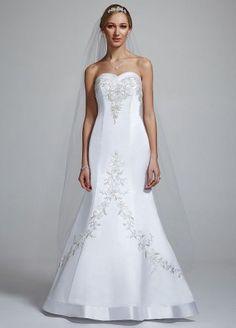 David's Bridal Wedding Dress: Satin Mermaid Gown with Sweetheart Neckline Style V9322, White, 2 David's Bridal,http://www.amazon.com/dp/B0079XWJ9Q/ref=cm_sw_r_pi_dp_suDIrbCC17594784