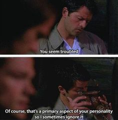 Crazy!Cas made me laugh so much 7x21 Reading is Fundamental -Supernatural -SPNS7-this ep is one of my favorites