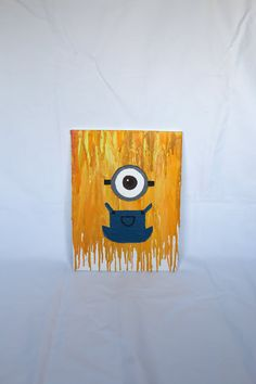 Minion Crayon Art by YourMagicalMemories on Etsy