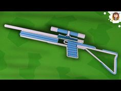 How to Make a Paper Sniper Rifle that shoots Rubber Band - Easy paper gun Tutorial Sniper Rifles, How To Make Paper, Crafts To Make, Fun Crafts, Toilet Paper Roll Crafts, Paper Crafts, Origami Weapons, Rubber Band Gun, Diy Crossbow