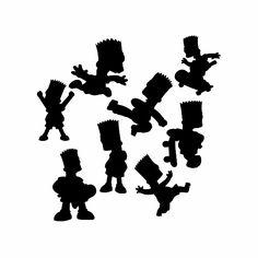 Free SVG files Bart Simpson silhouette bundle