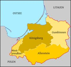 ... Ostpreußen, the land where my great grandmother was born ...