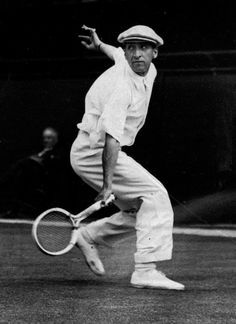 """""""French tennis sensation Rene Lacoste (""""Le Croc"""") won the Davis Cup in 1932 at Wimbledon but is best known for simplifying tennis-wear and adding an embroidered crocodile motif to his shirt, an early hallmark of preppy style."""""""
