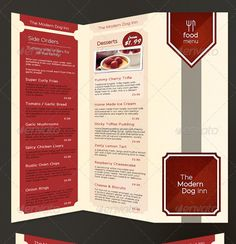 Sea Food Menu Templates Vector Hotels Restaurants Pinterest - 3 fold menu template