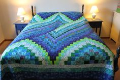 Twist Bargello Quilt Full Size Customizable by allusgirls on Etsy, $350.00