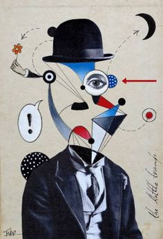 "Saatchi Art Artist Loui Jover; Collage, ""deconstructing charlie"" #art"