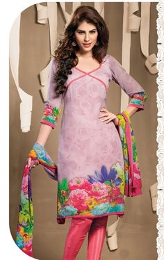 Picture of Attractive Lavender Color Salwar Suit Online