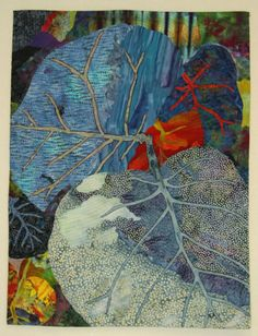 """Priscilla Kibbee quilt """"If Leaves were Blue"""" This is another quilt that reminds me of a mosaic in the quality of the piecing"""