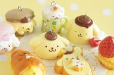 8 pcs Pom Pom Purin Yummy Mascot Charms Completed by misssapporo