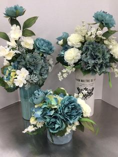 Fake Flower Centerpieces, Blue Flower Arrangements, Peony Arrangement, Artificial Floral Arrangements, Flower Vases, Fake Flowers, Artificial Flowers, Beautiful Flowers, Flower Stands