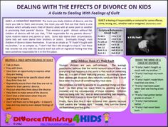 Helping a child of divorce who feels guilty about their parents' divorce.
