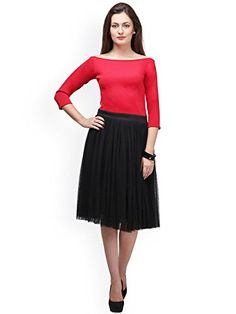 Beautil Black and Red Western dress for women