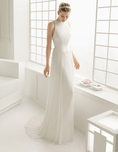 Brands | Wedding Gowns | Duende Silk Muslin Sheath Gown | Hudson's Bay