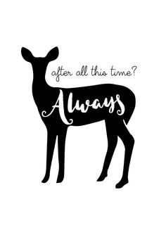 "Harry Potter ""After all this time? Always"" Severus Snape Patronus Art Print by HomeDecorDrawing on etsy."