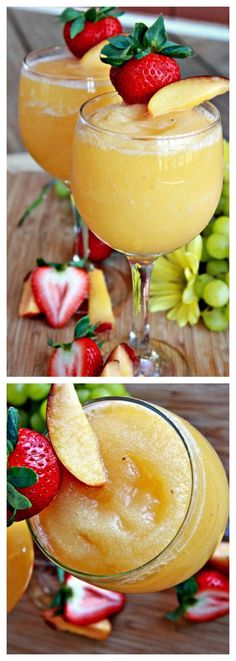 Peach moscato wine slushies...I'm thinking by the pool this summer! :)