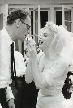 Marylin Monroe and Arthur Miller