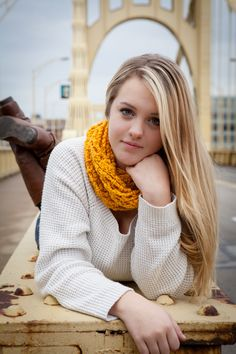 Senior girl photography #pittsburgh #urban #city #andywarholbridge #cute #posing #Pittsburghproud