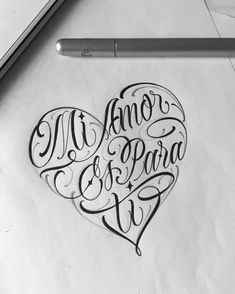 New tattoo heart letter 55 ideas Tattoo Lettering Styles, Chicano Lettering, Tattoo Design Drawings, Hand Lettering Fonts, Heart Tattoo Designs, Lettering Design, Payasa Tattoo, Amor Tattoo, Tattoo Script