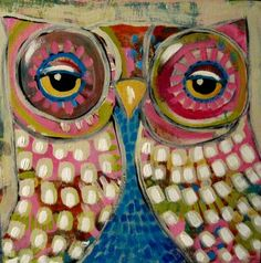 SUZAN BUCKNER ART: TWO OWL PAINTINGS!