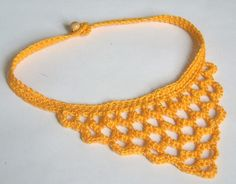 crochet collar by dewonapetal - etsy