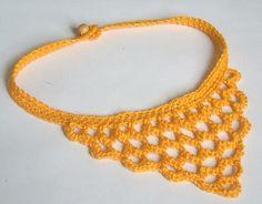 crochet collar by dewonapetal - etsy