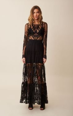 black lace dress. You could put a black tube dress under it too.