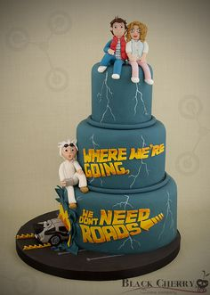 Back to the Future Wedding Cake by Little Cherry Cake Company, via Flickr