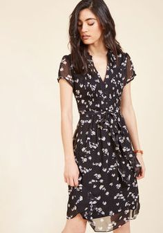 Ladies Who Launch A-Line Dress in Noir Blossom