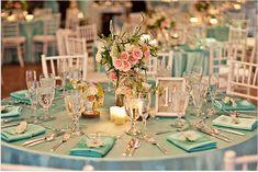 wedding color aqua