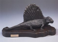 Allen Debus - Dimetrodon. a resin sculpt with a bronze finish