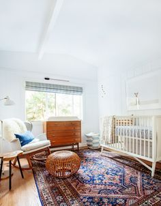 Affordable nursery furniture sets contemporary nursery and animal photography beach home bohemian california style collection eclectic Nursery Furniture Sets, White Furniture, Contemporary Nursery Furniture, White Rug, Bedroom Styles, Bedroom Designs, Nursery Design, How To Clean Carpet, Quartos