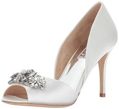 67b8bedb198 Badgley Mischka Women s Kaden Pump. Kaden is a glamorous satin d orsay heel  featuring an embellished peep toe and heel. Available in  Navy