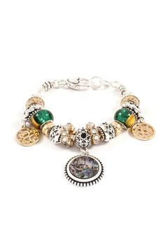 Abalone Charm Bracelet