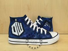 Doctor Who Custom Converse /Converse Sneakers/ Hand-Painted On Converse Shoes /canvas shoes/sneakers/For  men  women kids