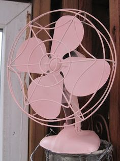 vintage pink fan...love it!