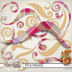 #Pip and Friends Swirls Pack by #Booland Designs. #theStudio #digiscrap