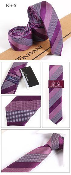 best selling purple and grey stripe mens polyester skinny neckties K66