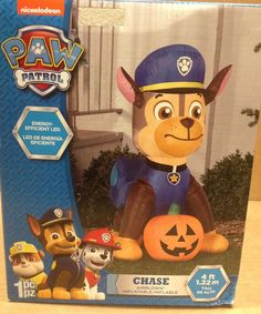 Paw Patrol Chase Pumpkin Gemmy LED Halloween Airblown Inflatable Nickelodeon