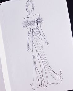 Fashion design sketches 565342559476086417 - ideas fashion sketches illustration indian Source by Dress Design Drawing, Dress Design Sketches, Fashion Design Sketchbook, Fashion Design Drawings, Dress Designs, Wedding Dress Sketches, Drawing Sketches, Sketching, Fashion Figure Drawing